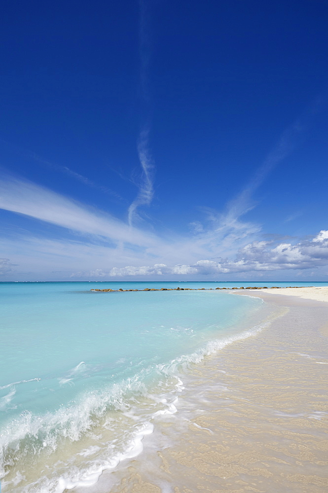 The sands of Grace Bay, the most spectacular beach on Providenciales, Turks and Caicos, in the Caribbean, West Indies, Central America - 1202-135