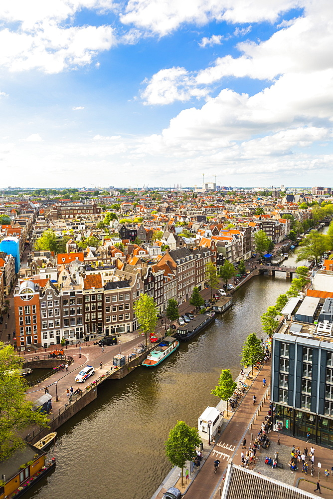 View of Prinsengracht canal, Amsterdam, Netherlands - 1207-105