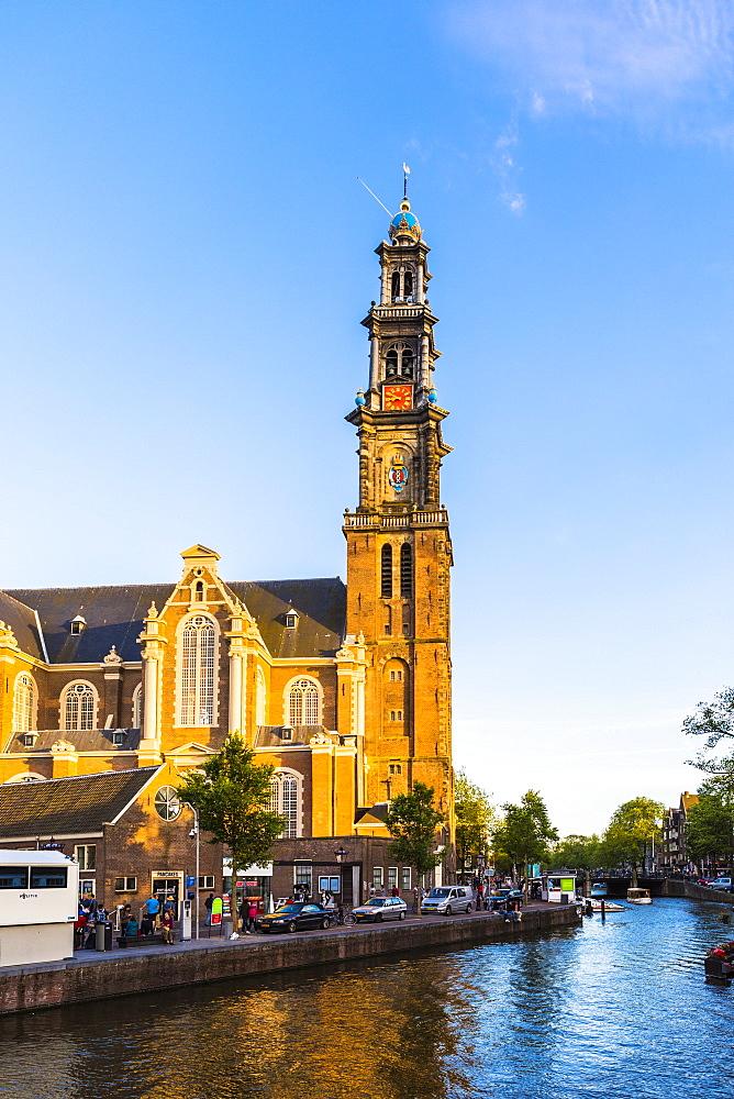 Prinsengracht canal and Westerkerk, Amsterdam, Netherlands - 1207-111