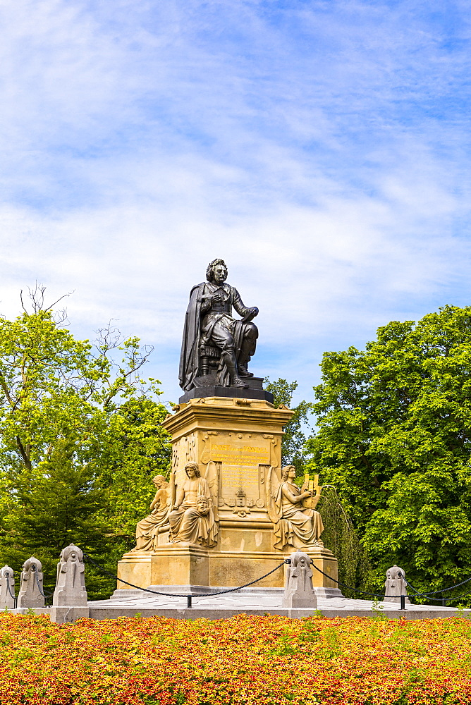 Statue Of Joost Van Den Vondel in Vondelpark, Amsterdam, Netherlands - 1207-119