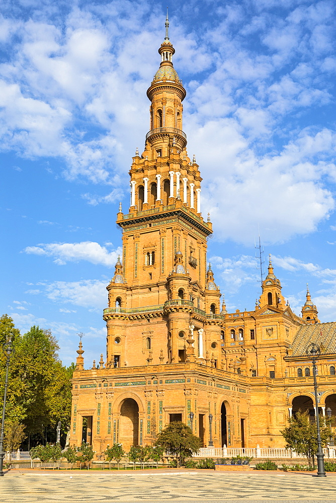 Plaza de Espana, built for the Ibero-American Exposition of 1929, Seville, Andalucia, Spain, Europe - 1207-212