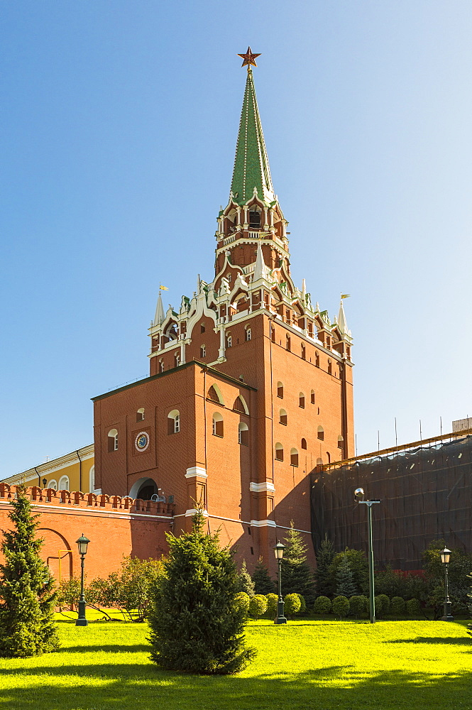 Trinity Gate Tower of the Kremlin, UNESCO World Heritage Site, Moscow, Russia, Europe - 1207-428
