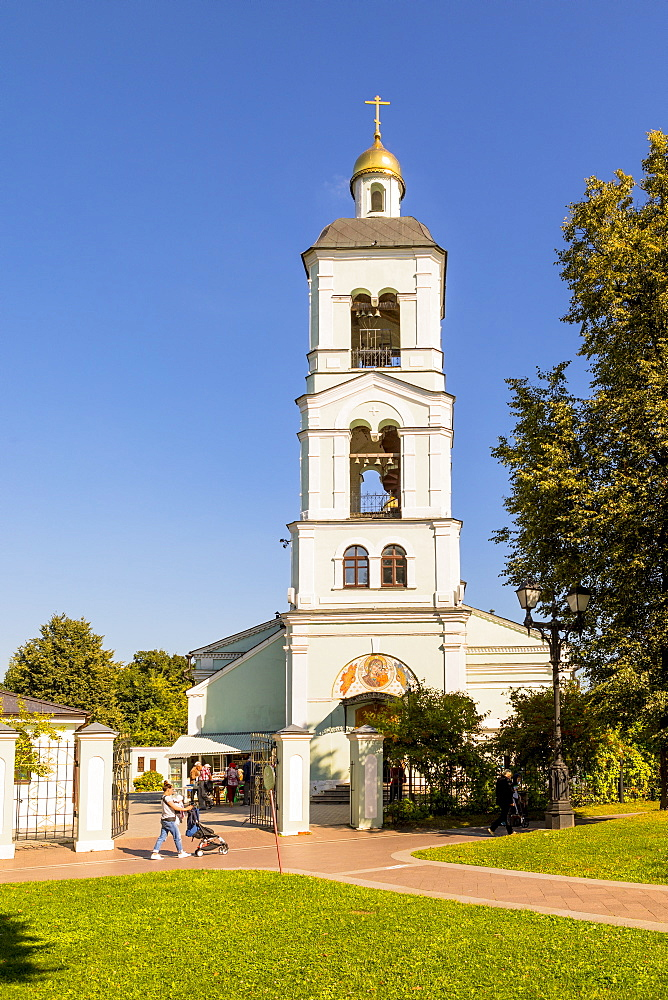 A church in Tsaritsyno Park, Moscow, Russia, Europe