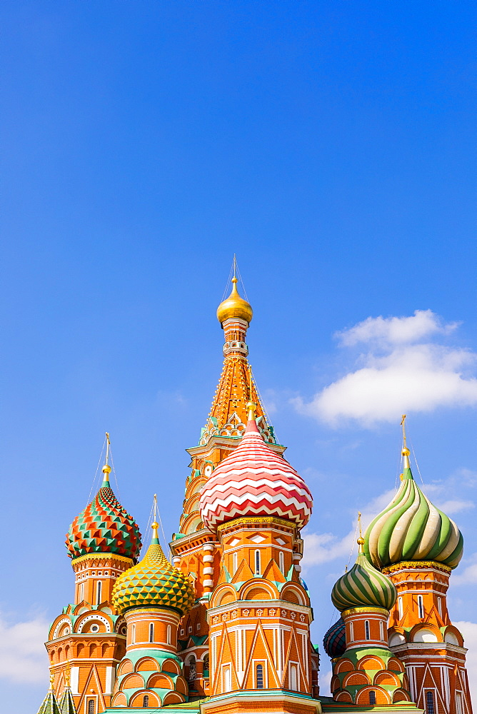 The Cathedral of Vasily the Blessed (St. Basil's Cathedral), Red Square, UNESCO World Heritage Site, Moscow, Russia, Europe - 1207-461