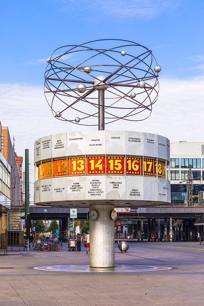 The World Clock at Alexanderplatz, Berlin, Germany, Europe - 1207-531