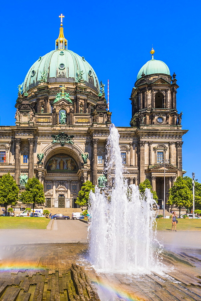 Fountain by Berlin Cathedral in Berlin, Germany, Europe