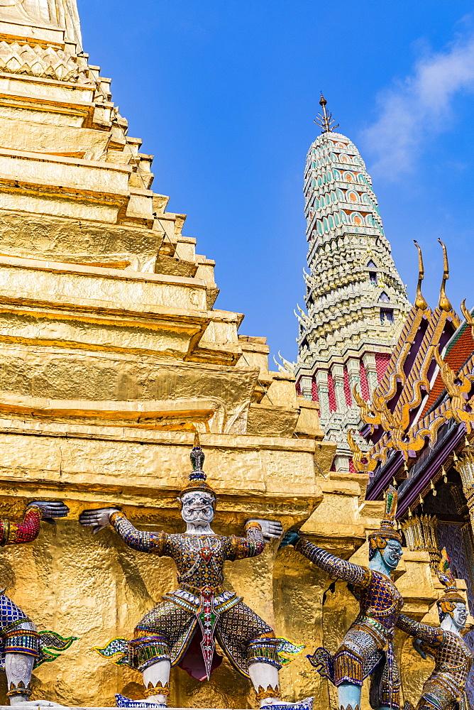 Wat Phra Kaew, The Grand Palace, Bangkok, Thailand, Southeast Asia, Asia - 1207-707