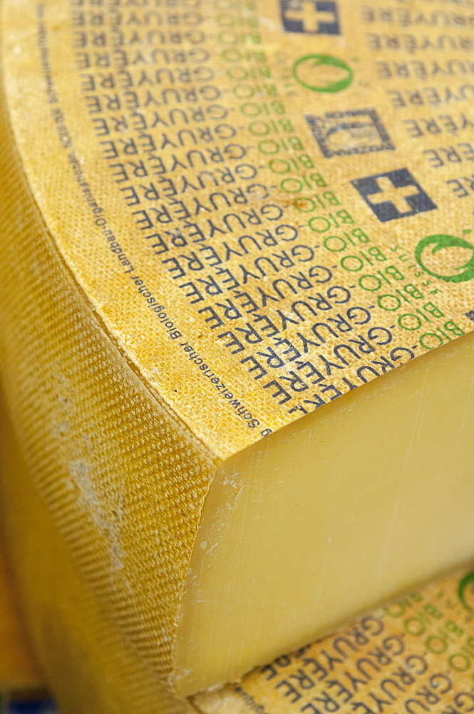 Large slab of Gruyere Cheese, The Netherlands, Europe