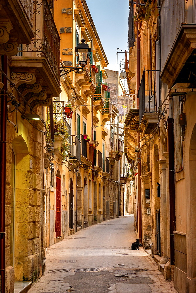 Syracuse Street, Syracuse, Sicily, Italy, Europe - 1216-135