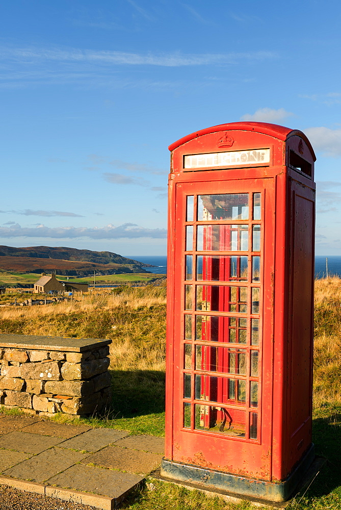 Old Telephone Box, Scottish Highlands, Scotland, United Kingdom, Europe - 1216-298