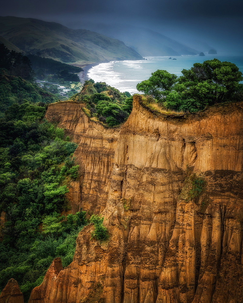 Cathedral Cliffs, Gore Bay, South Island, New Zealand, Pacific - 1216-302