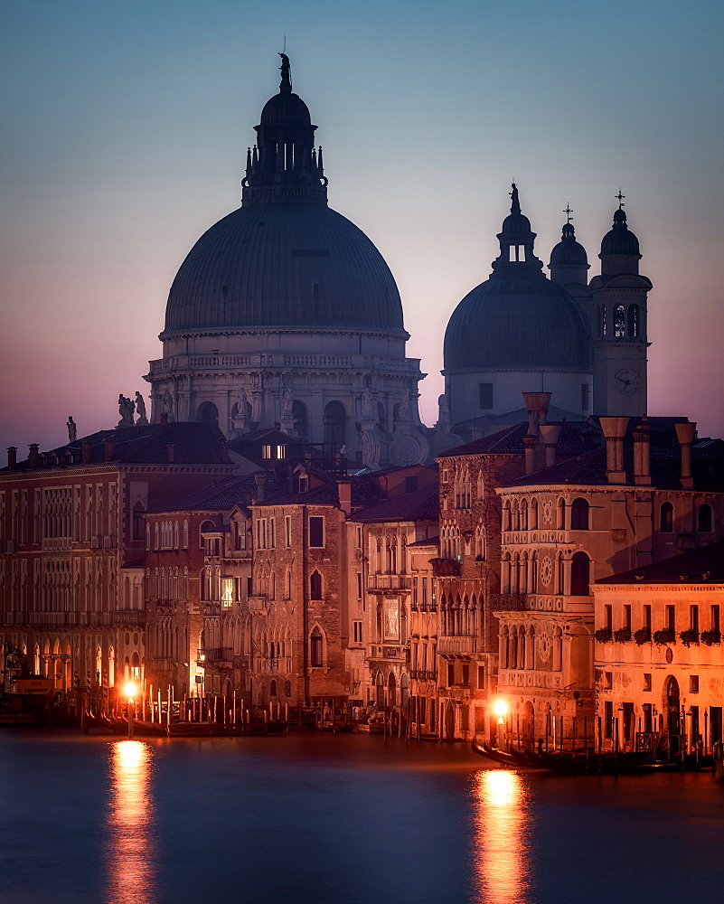 Venice by Night, the Basilica di Santa Maria della Salute, Venice, Italy, Europe - 1216-373
