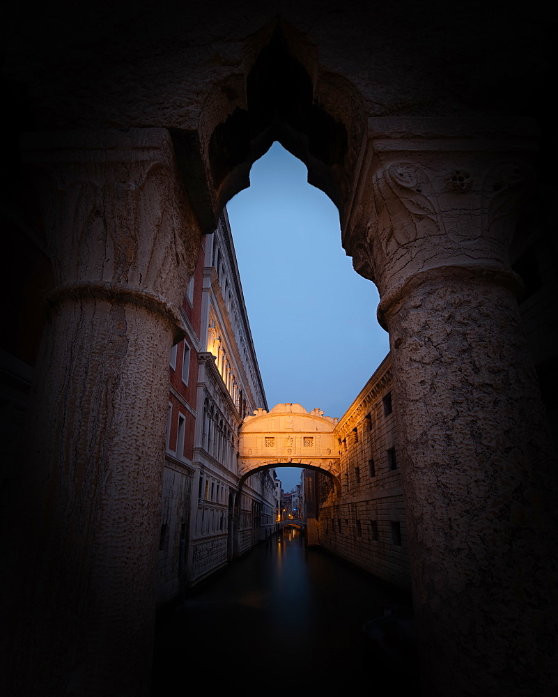The Bridge of Sighs, Venice, Italy, Europe - 1216-380
