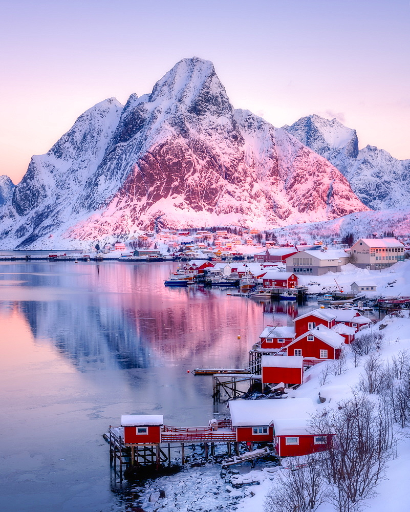 Sunrise at Reine, Lofoten Islands, Nordland, Norway, Europe