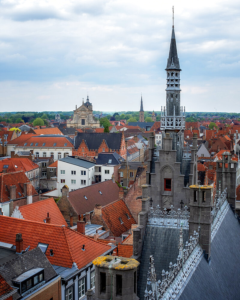 Rooftops of Bruges, Bruges, West Flanders, Belgium, Europe