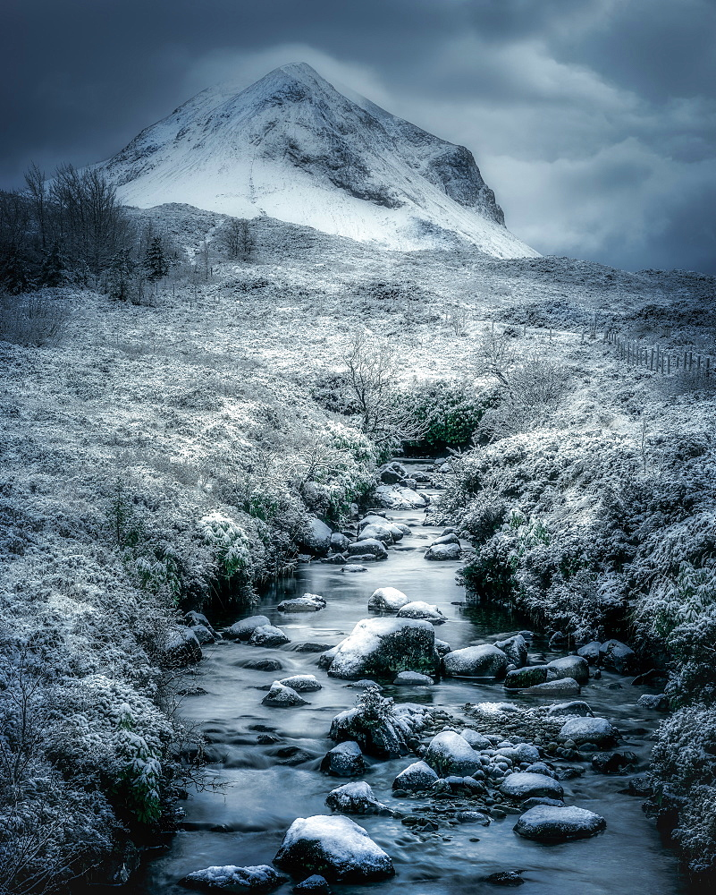 Isle of Skye in winter, Inner Hebrides, Scotland, United Kingdom, Europe