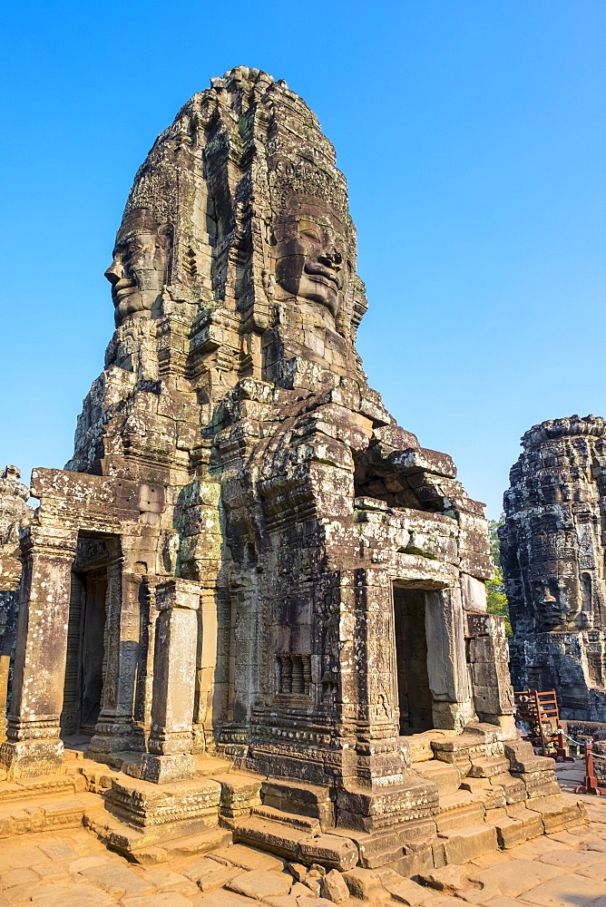 Prasat Bayon temple ruins, Angkor Thom, UNESCO World Heritage Site, Siem Reap Province, Cambodia, Indochina, Southeast Asia, Asia
