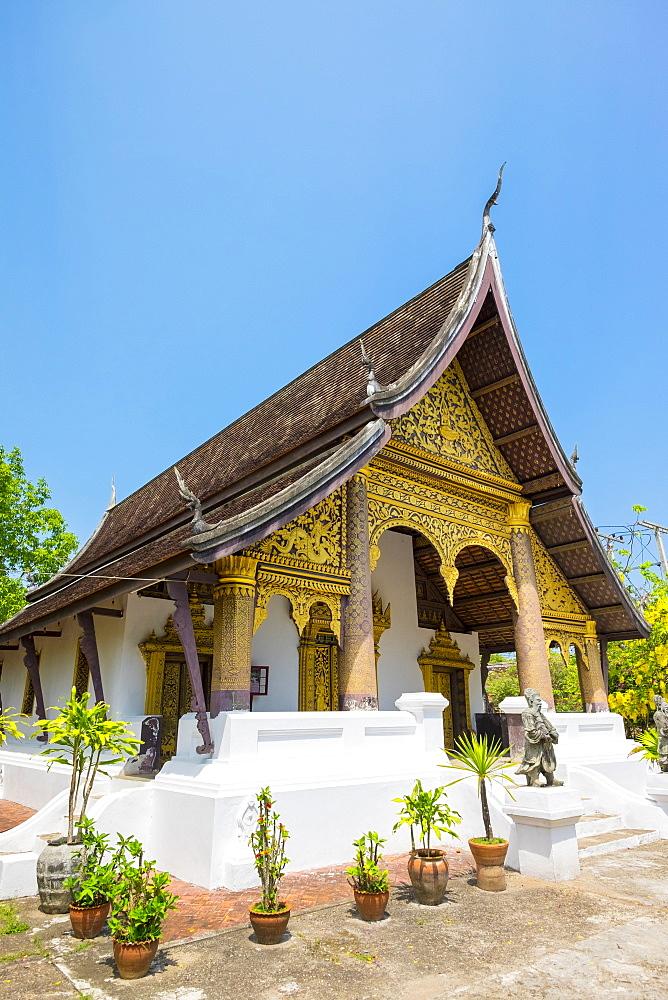 Wat Choumkhong Buddhist temple, Luang Prabang, Louangphabang Province, Laos, Indochina, Southeast Asia, Asia