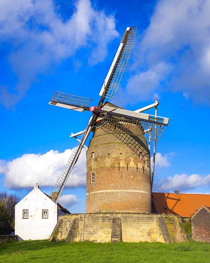 Tower Mill of Gronsveld (Torenmolen van Gronsfeld) windmill, Vroendaal, Maastricht, Limburg, Netherlands, Europe