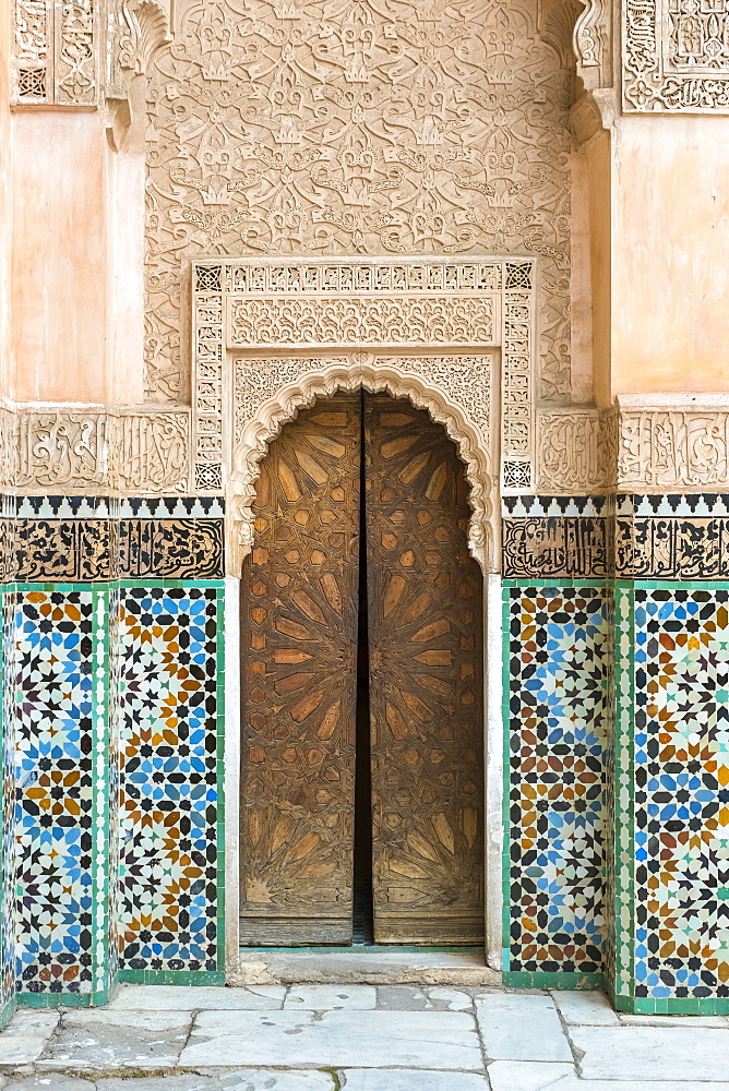 Ben Youssef Madrasa, 16th century Islamic College, UNESCO World Heritage Site, Marrakesh, Morocco, North Africa, Africa - 1217-510