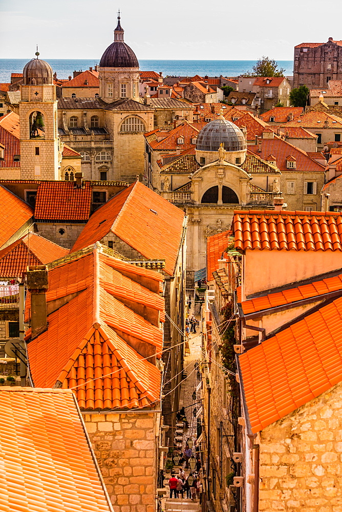 Scenic views of Dubrovnik in Croatia.