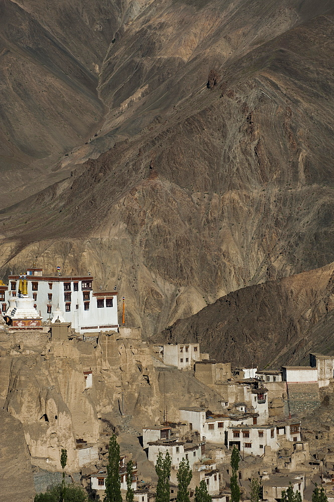A view of the magnificent 1000-year-old Lamayuru Monastery in the remote region of Ladakh, Himalayas, northern India, Asia