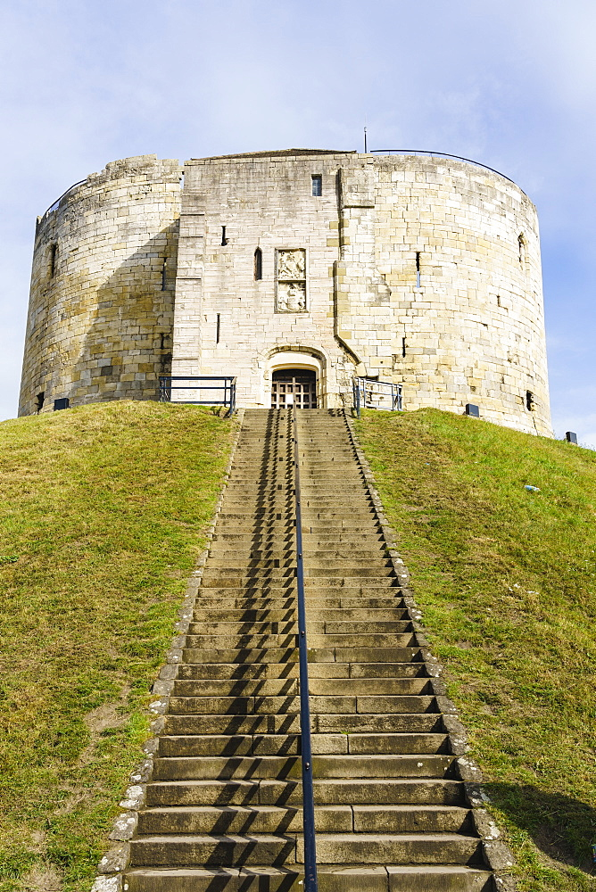 Clifford's Tower, York Castle, York, North Yorkshire, England, United Kingdom, Europe
