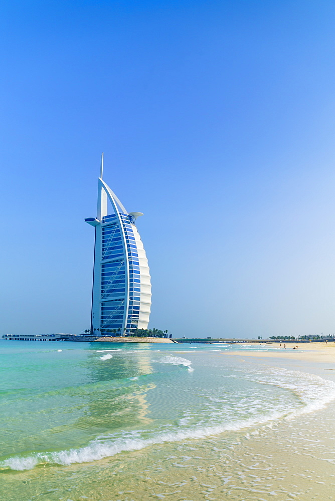 Burj Al Arab hotel, iconic Dubai landmark, Jumeirah Beach, Dubai, United Arab Emirates, Middle East