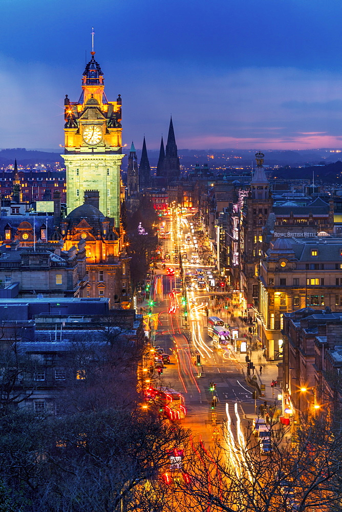 Princes Street, UNESCO World Heritage Site, Edinburgh, Scotland, United Kingdom, Europe