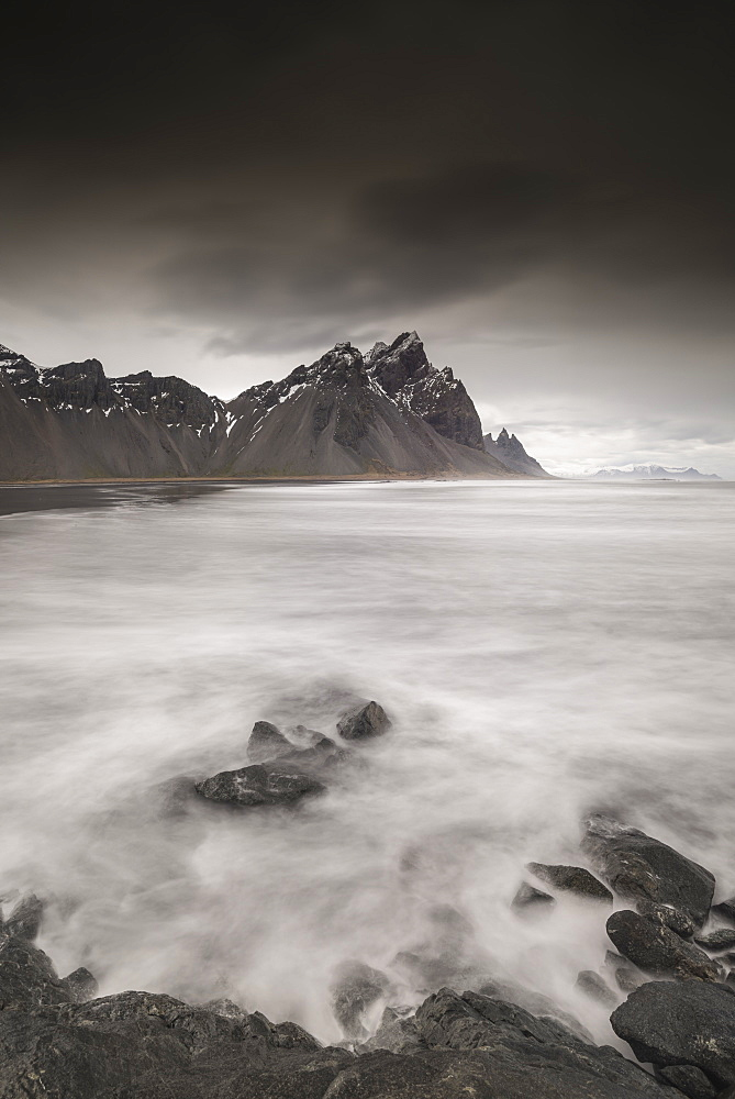 Vestrahorn mountains at Stokksness, Iceland, Polar Regions