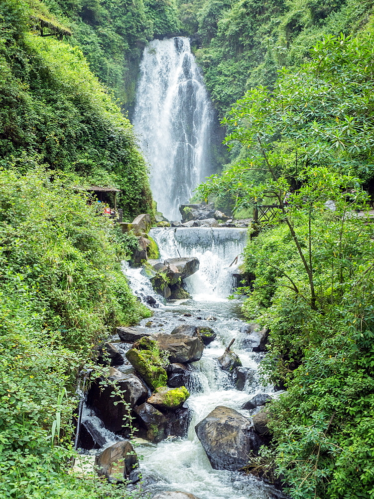 Peguche Waterfall, near Otavalo, Ecuador, South America