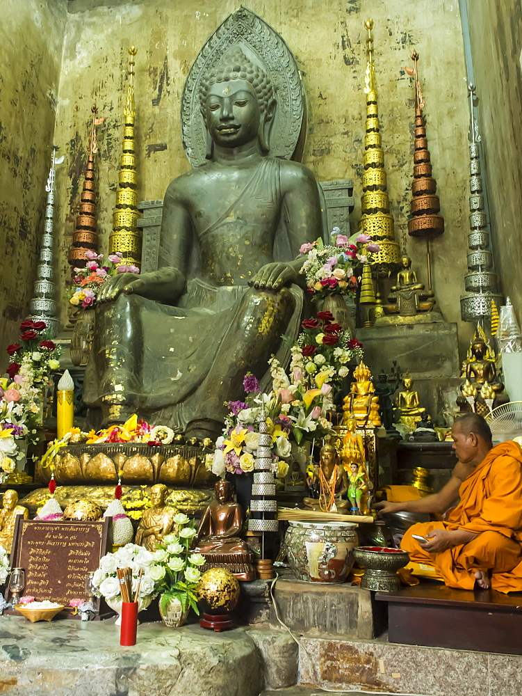 Buddha, 7th to 9th century, Wat Na Phra Mane, Ayutthaya, Thailand, Southeast Asia, Asia
