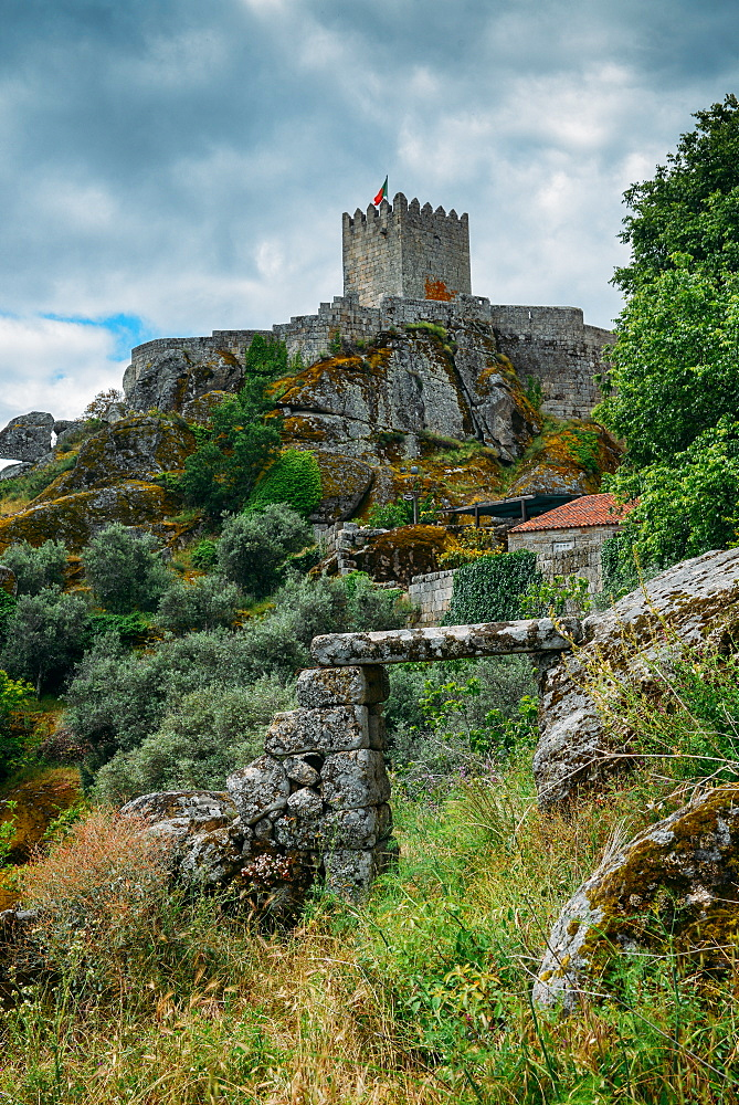 Sortelha, a historical mountain village, built within Medieval fortified walls, included in Portugal's Historical Village route, Sortelha, Portugal, Europe - 1243-269