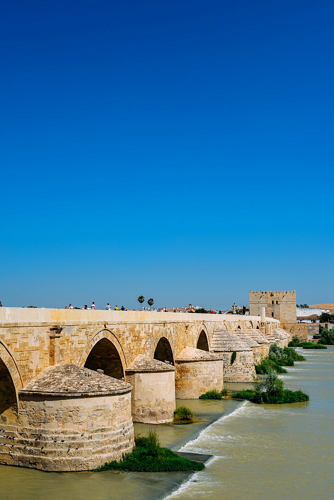 Roman Bridge, UNESCO World Heritage Site, over Guadalquivir River, Cordoba, Andalucia, Spain, Europe - 1243-305
