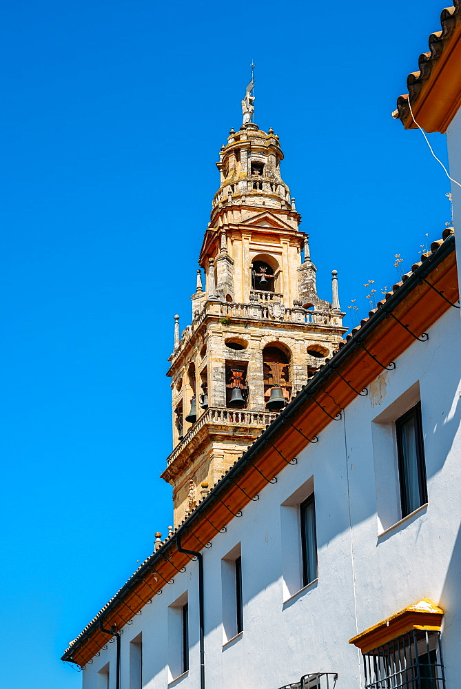 Bell Tower of La Mezquita (Great Mosque), UNESCO World Heritage Site, Cordoba, Andalucia, Spain, Europe - 1243-308