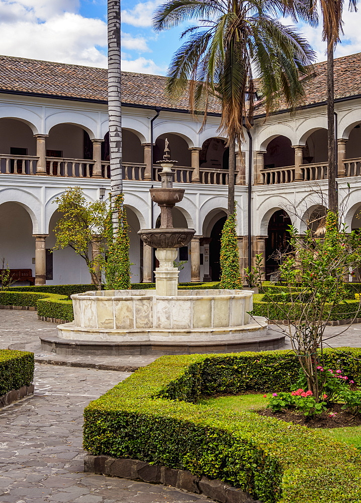 Cloister of Saint Francis Monastery, UNESCO World Heritage Site, Quito, Pichincha Province, Ecuador, South America