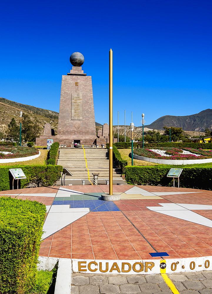 Monument to the Equator, Ciudad Mitad del Mundo (Middle of the World City), Pichincha Province, Ecuador, South America