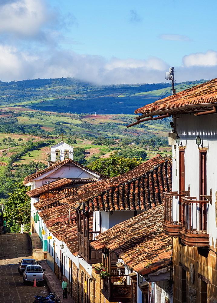 Street of Barichara, Santander Department, Colombia - 1245-1411
