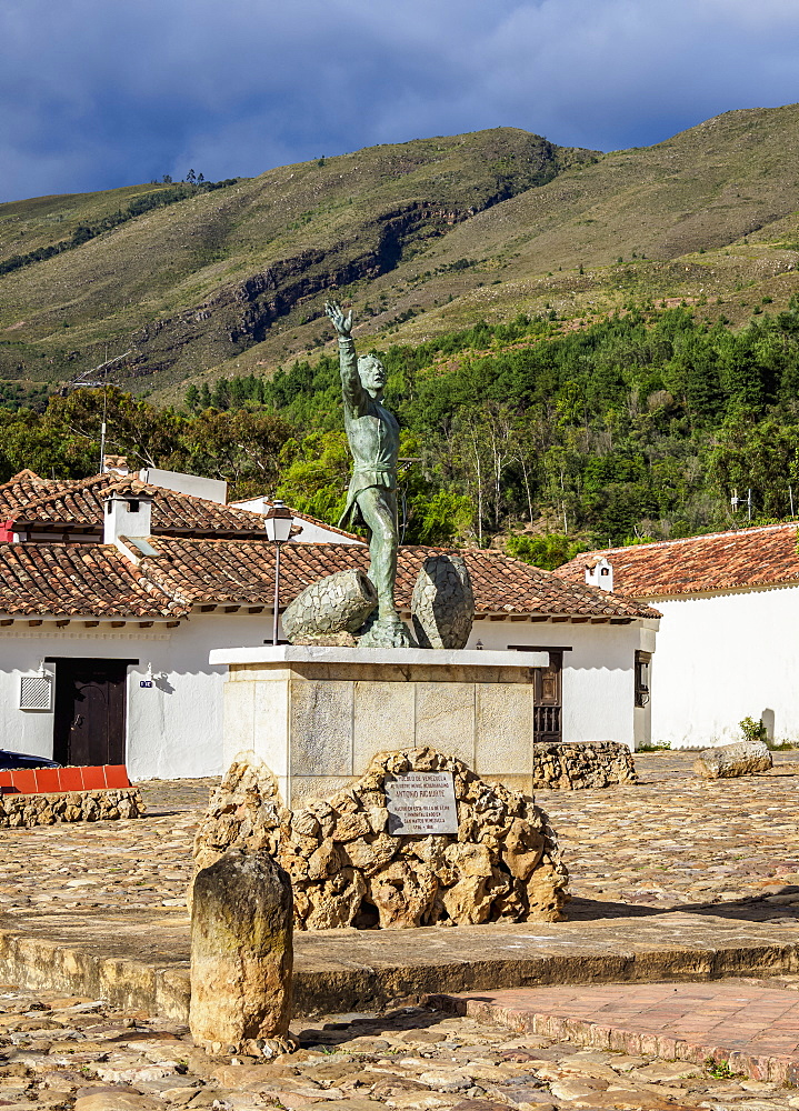 Antonio Ricuarte Monument, Villa de Leyva, Boyaca Department, Colombia, South America