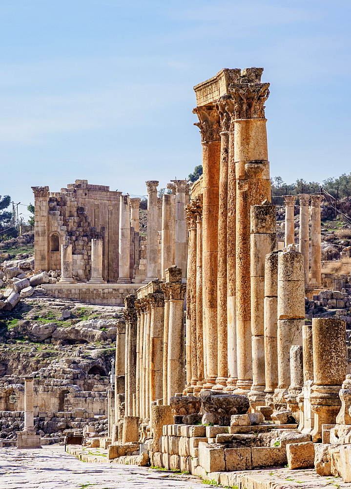 Colonnaded Street (Cardo), Jerash, Jerash Governorate, Jordan, Middle East