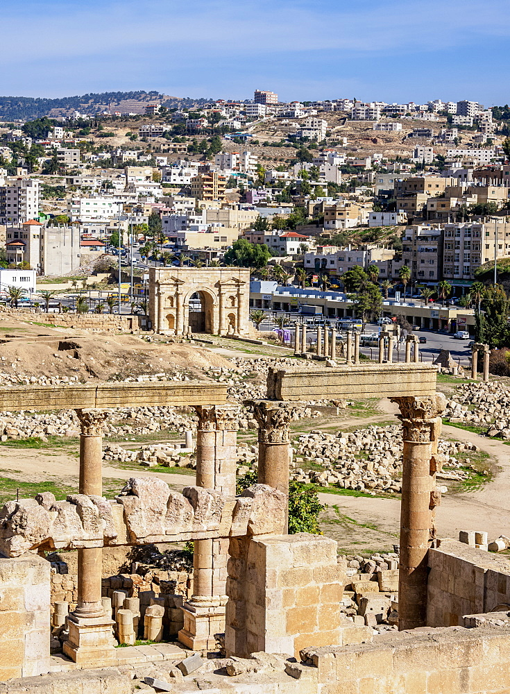 North Theatre, Jerash, Jerash Governorate, Jordan, Middle East