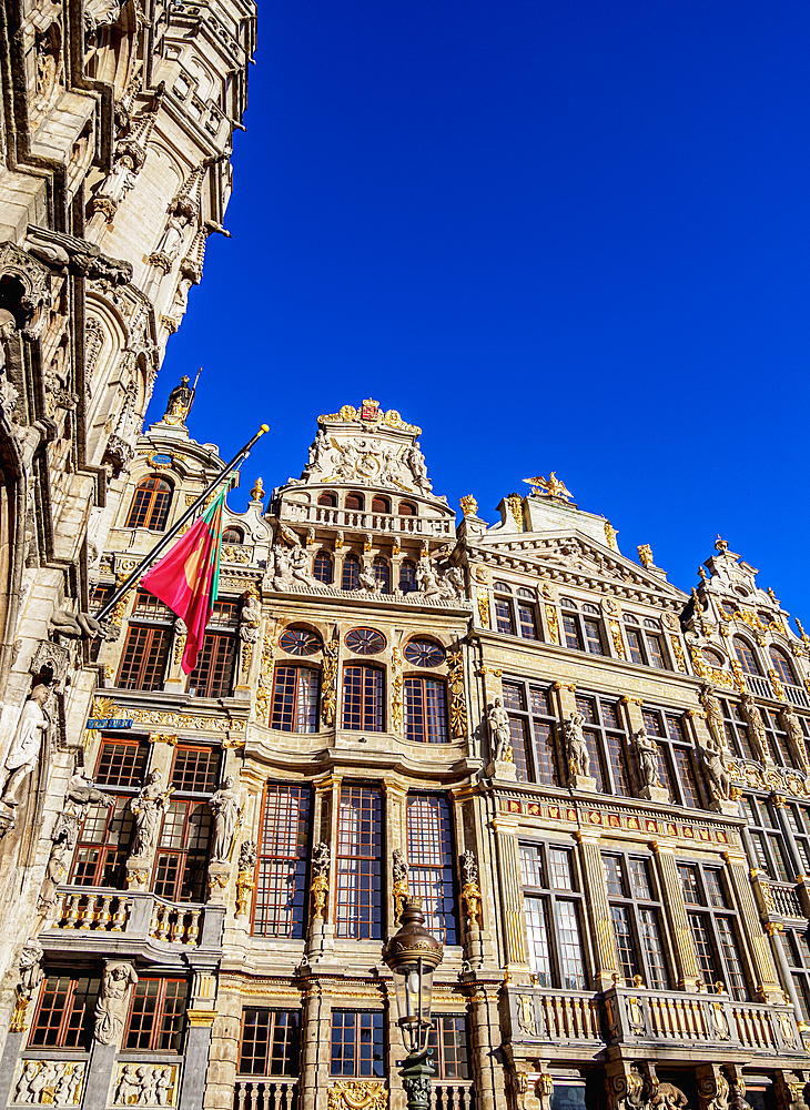 Houses at Grand Place, UNESCO World Heritage Site, Brussels, Belgium, Europe - 1245-1732