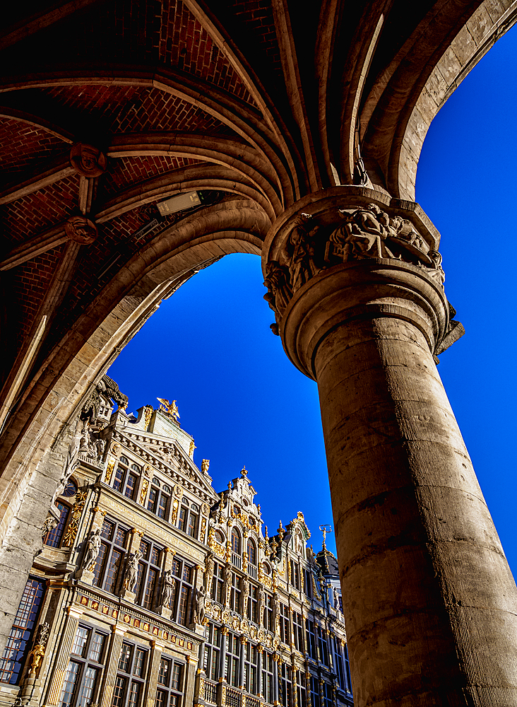 Houses at Grand Place, UNESCO World Heritage Site, Brussels, Belgium, Europe - 1245-1733