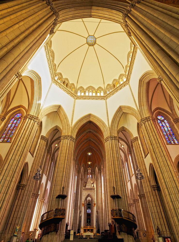 Interior view of the Sao Paulo See Metropolitan Cathedral, Praca da Se, City of Sao Paulo, State of Sao Paulo, Brazil, South America