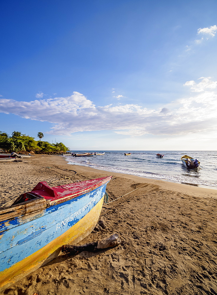 Fishing boats at Frenchman's Beach, Treasure Beach, Saint Elizabeth Parish, Jamaica, West Indies, Caribbean, Central America