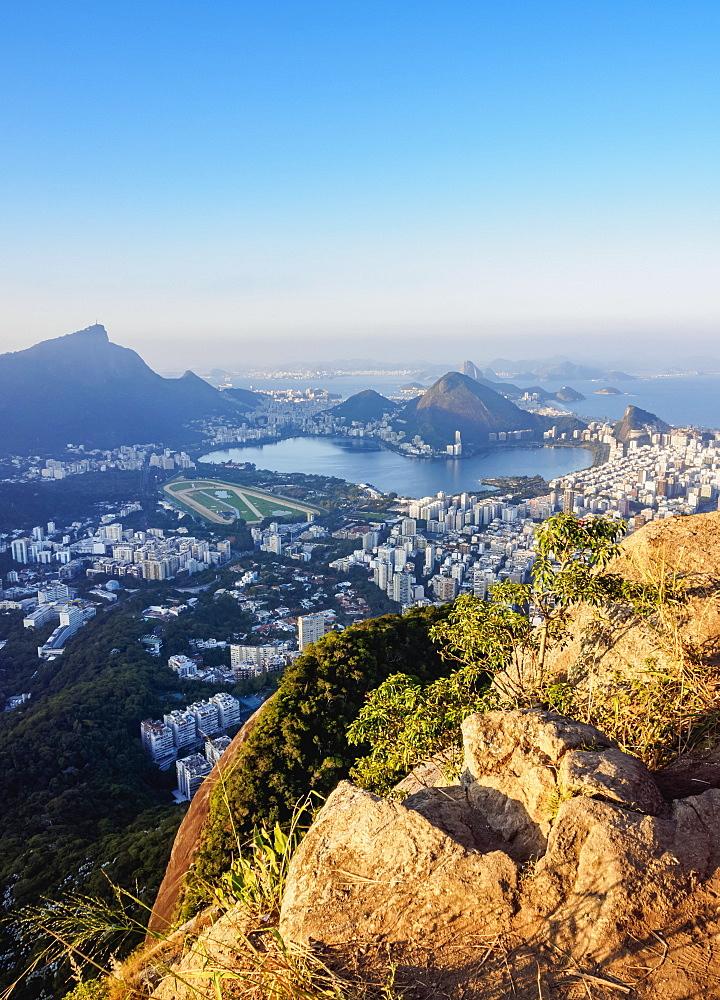 Cityscape seen from the Dois Irmaos Mountain, Rio de Janeiro, Brazil