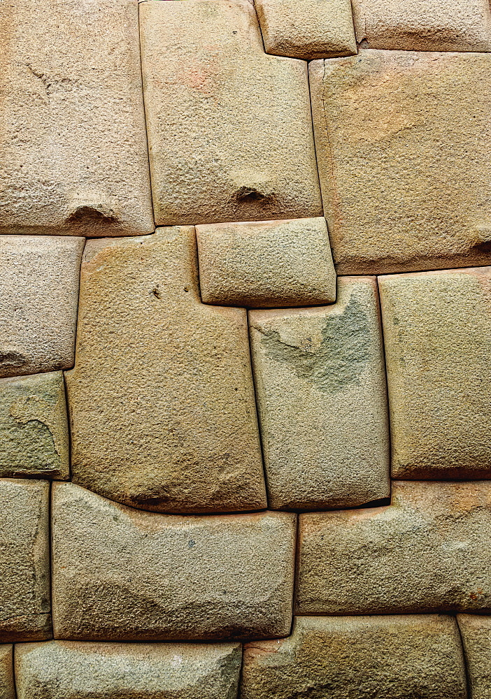 Inca stonework, Hatunrumiyoc Street, UNESCO World Heritage Site, Cusco, Peru, South America