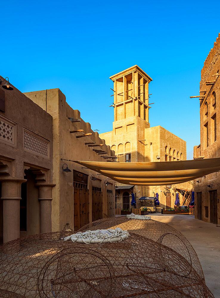 Al Bastakiya Historical Neighbourhood and Dubai Creek, Dubai, United Arab Emirates, Middle East - 1245-963