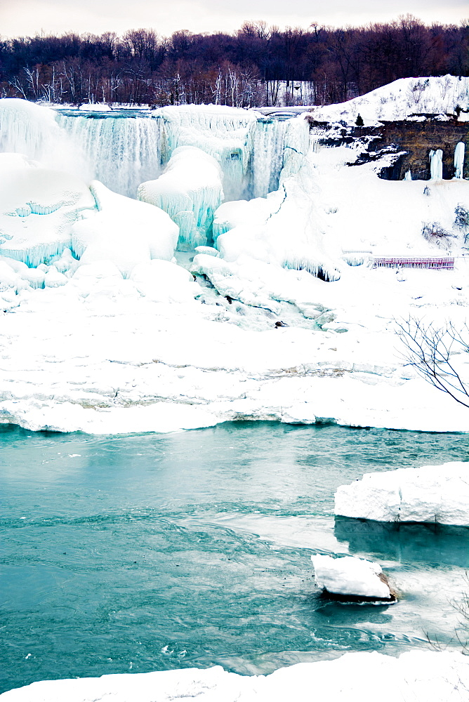 Frozen Niagara Falls in March, Ontario, Canada, North America - 1247-193