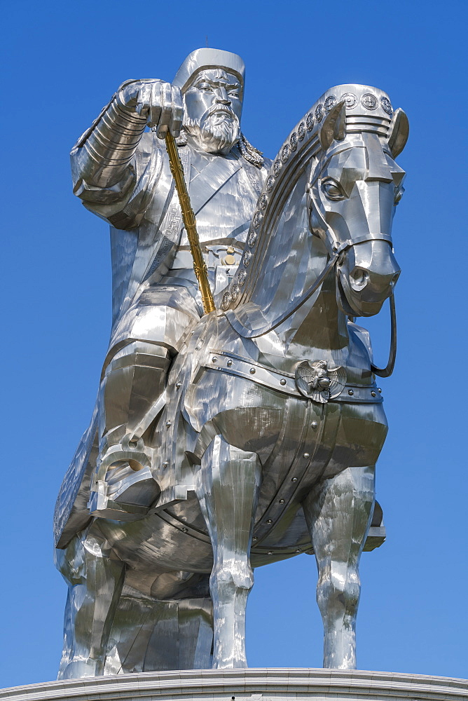 Genghis Khan equestrian statue, Erdene, Tov province, Mongolia, Central Asia, Asia